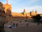 Sunset on Plaza de Espana