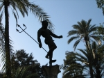 Interesting statue, Alcazar Gardens